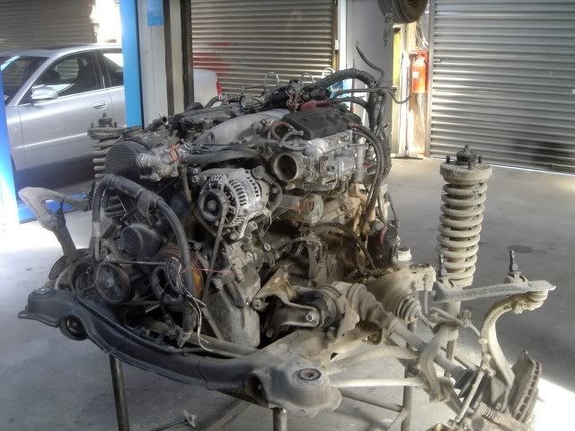 motor and subframe
